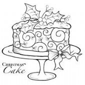 Woodware - Christmas Cake - Clear Magic Stamp Set - JGS104